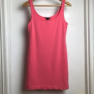 H&M Pink Bodycon cotton sleeveless mini dress sz S